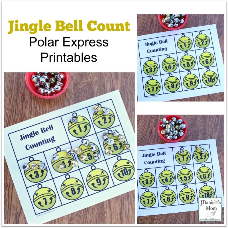 Polar Express Printables- Jingle Bell Printables : There is an open ended worksheet and one that focuses on number recognition.