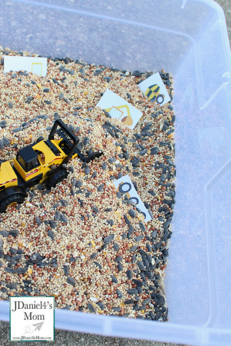 Kids Challenges- Digging Up and Sorting Construction Equipment Printables : Kids will love digging up various trucks and construction equipment. They can then sort them each into groups.