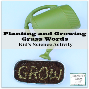 Kid's Science Activity – Planting and Growing Grass Words
