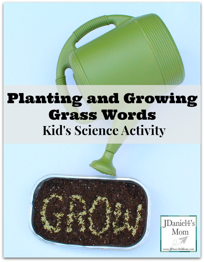 Kid's Science - Planting and Growing Grass Words