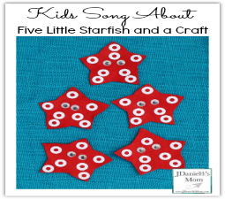 Kids Song About  Five Little Starfish and a Craft