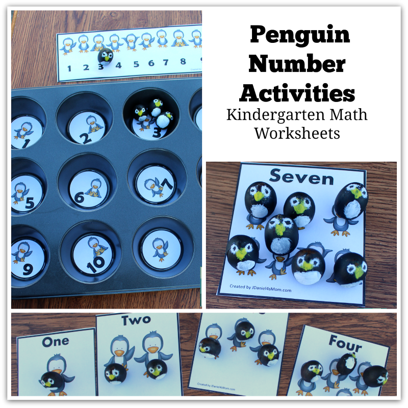Kindergarten Math Worksheets - This set contains a number line, number and picture cards, and muffin tin numbers.