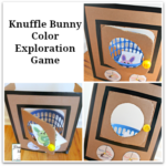 Knuffle Bunny Color Exploration Game with Printable Bunny Cards - This is a fun way to explore color words.
