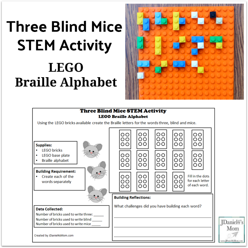 LEGO Braille Alphabet -Three Blind Mice STEM Activity