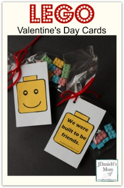 LEGO Valentine's Day Cards - Printable