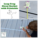 Leap Frog Straw Rocket With Printable -It is fun to make the frog leap from the straw.
