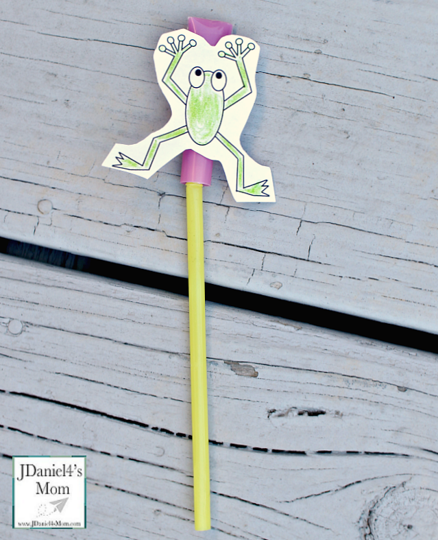 Leap Frog Straw Rocket with Printable - Rocket Assembled