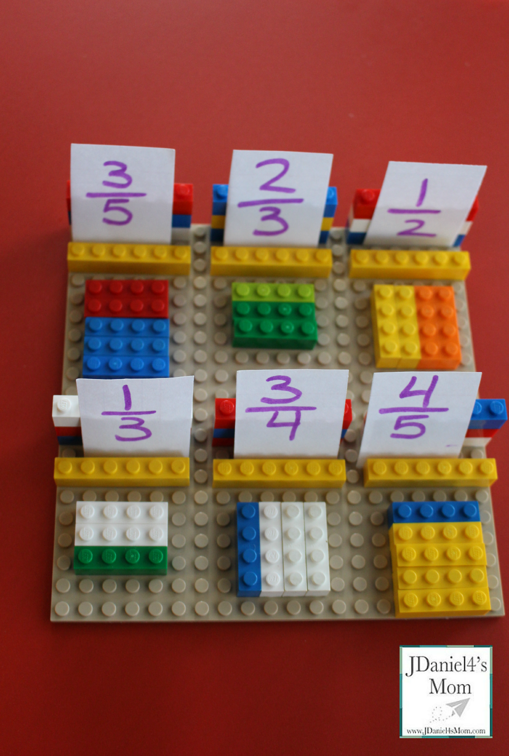 Lego Fraction Games for Kids- Fractions Completed