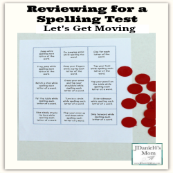 Let's Get Moving While Reviewing for a Spelling Test