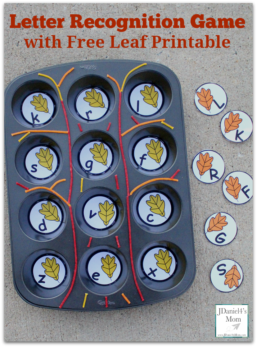 Witty image for letter recognition games printable