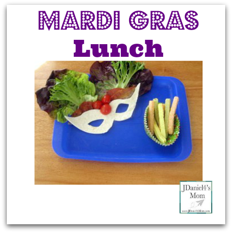 Mardi Gras Lunch- This BTL lunch was made for my son. I loved taking the mask apart and eating it one piece at a time.