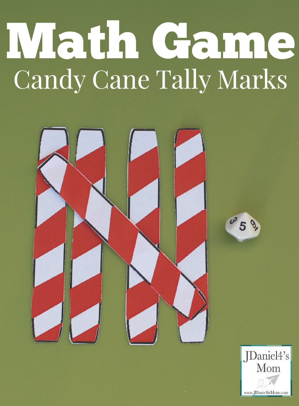 Math Game- Candy Cane Tally Marks This is a fun way to build numbers and w