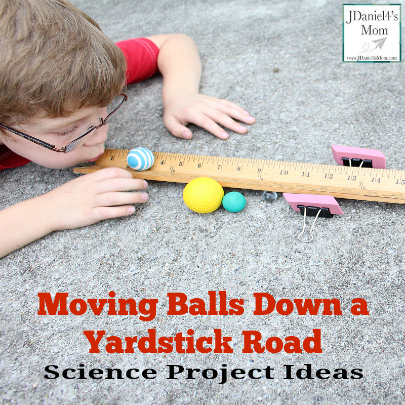 Science Project Ideas - Moving Balls Down a Yardstick Road