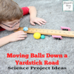Science Ideas - Moving Balls Down a Yardstick Road