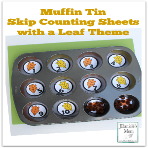 Muffin Tin Skip Counting Sheets with a Leaf Theme