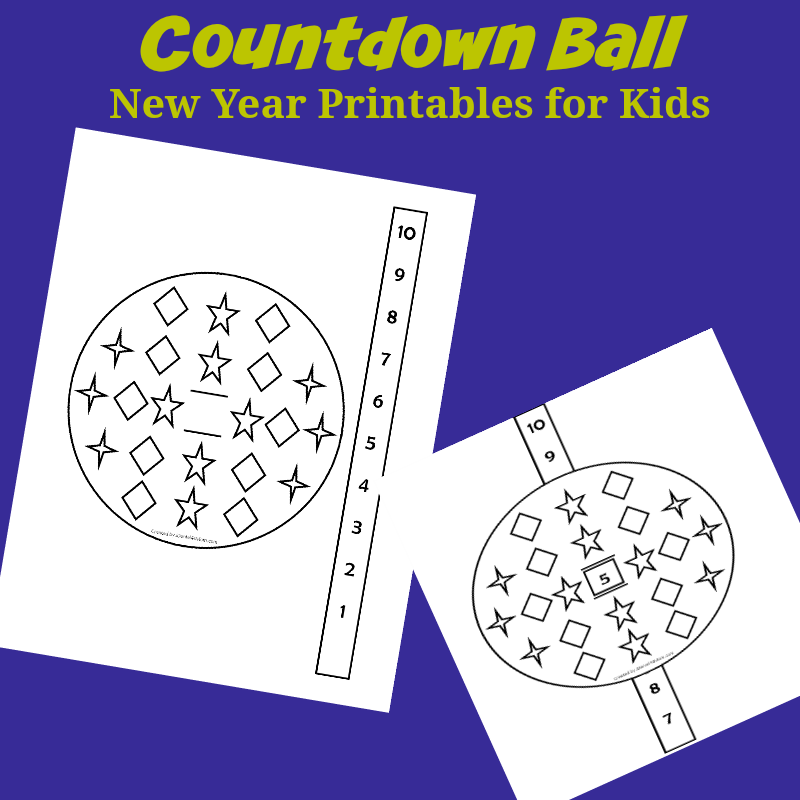 New Year Printables for Kids