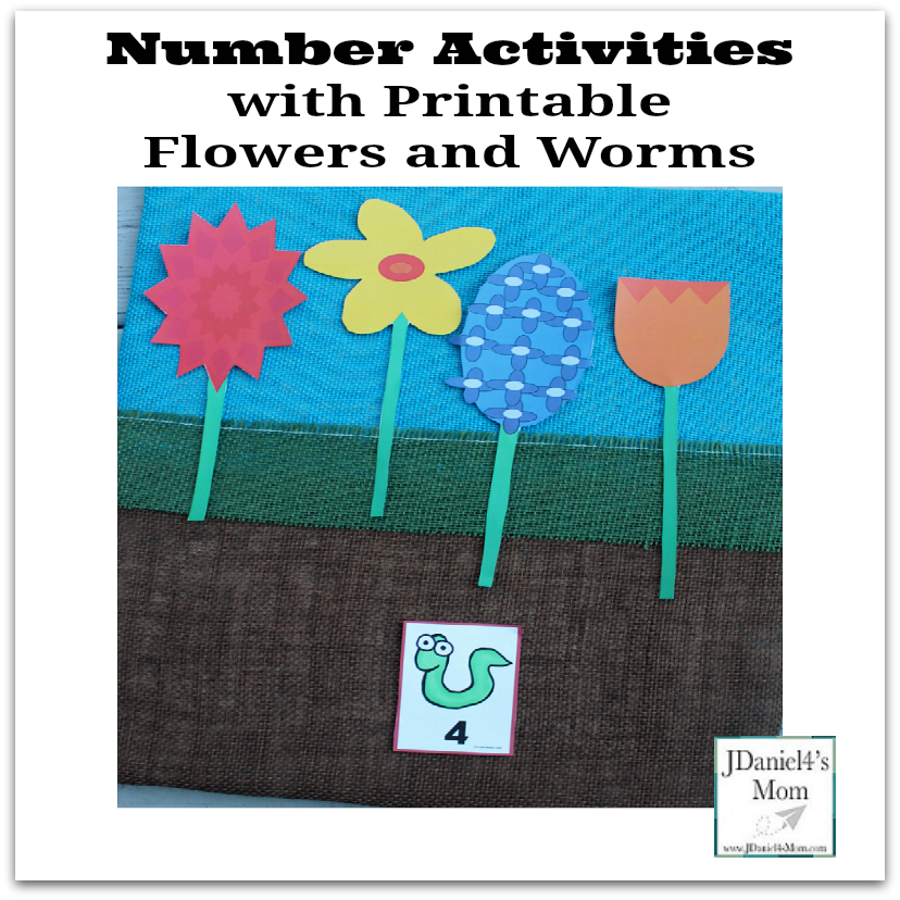 Number Activities with Printable Flowers and Worms- This set is a wonderful way to work on number recognition and counting.