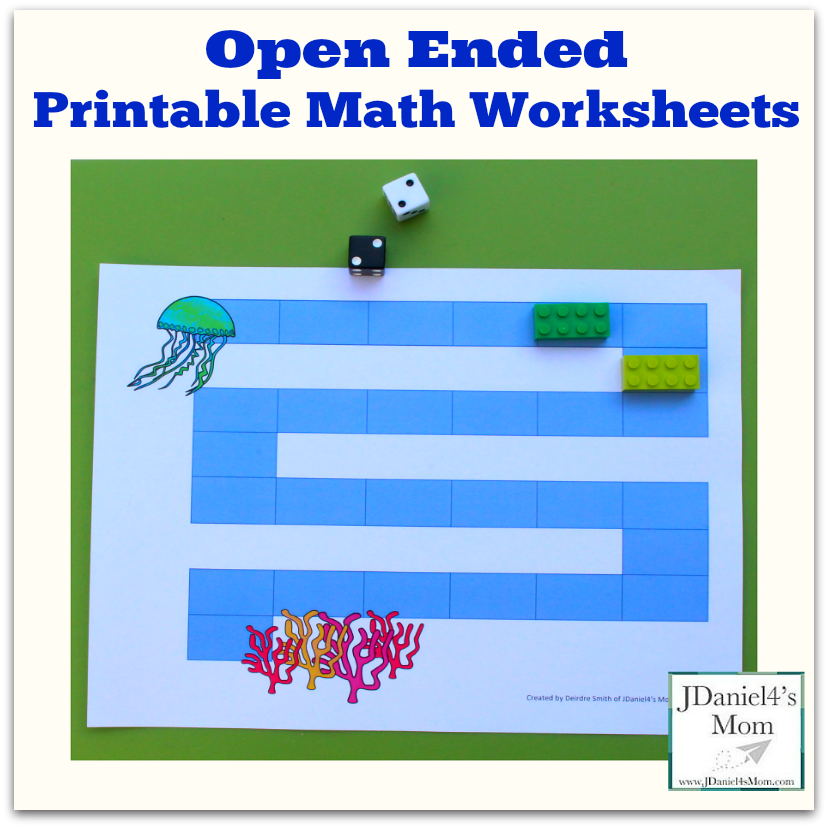 Open Ended Printable Math Worksheets
