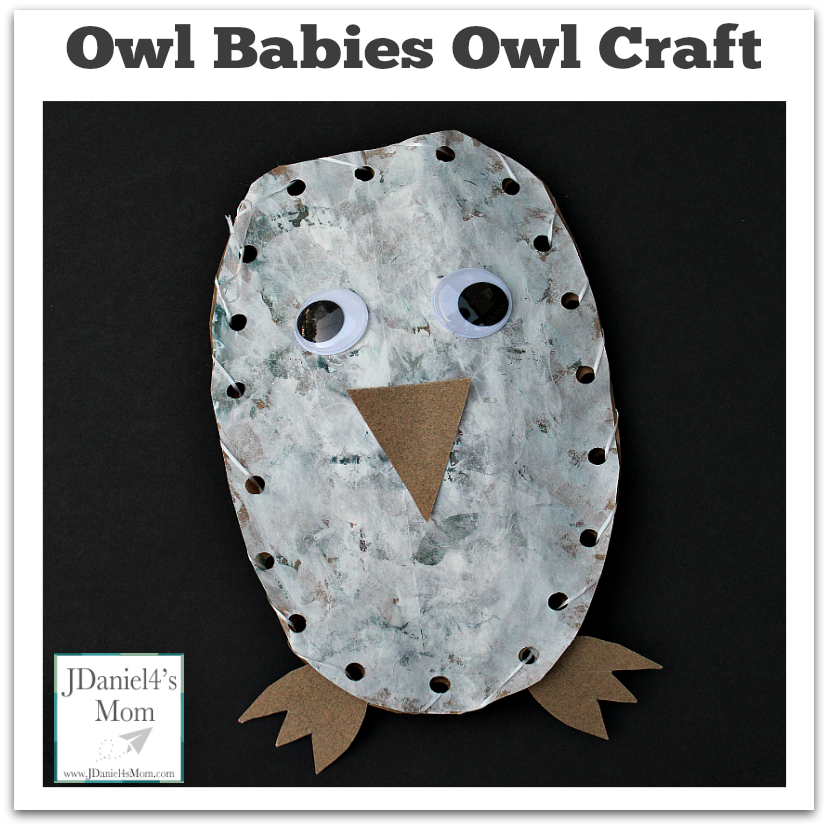 Owl Craft Based on the Book Owl Babies- It is fun to paint, sew, and create this fun owl craft.