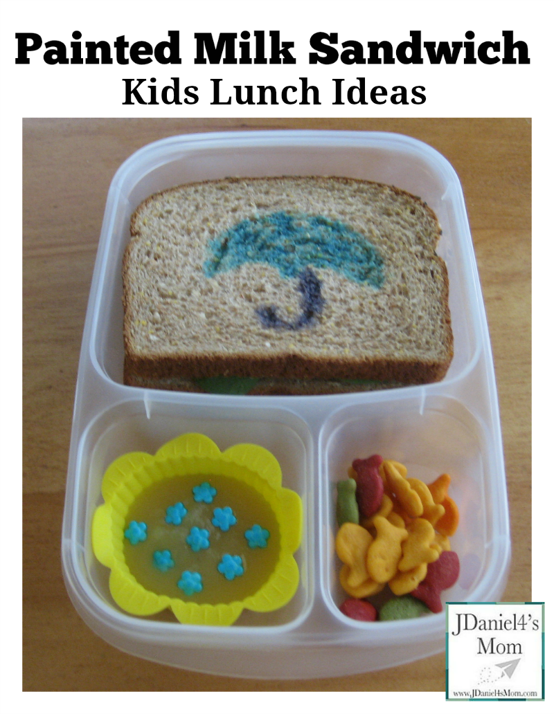 Kid Lunch Ideas - Painted Milk Sandwich