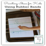 Painting Ideas for Kids Using Rubber Bands
