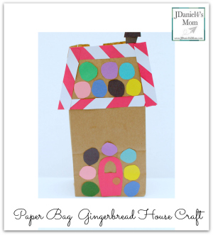 Paper Bag  Gingerbread House Craft