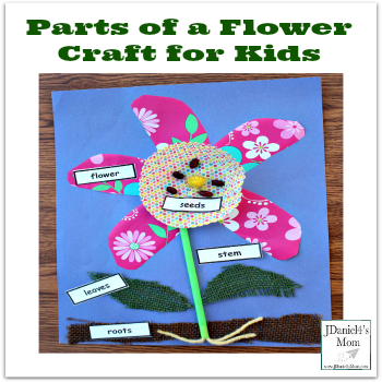 Parts of a Flower Craft for Kids