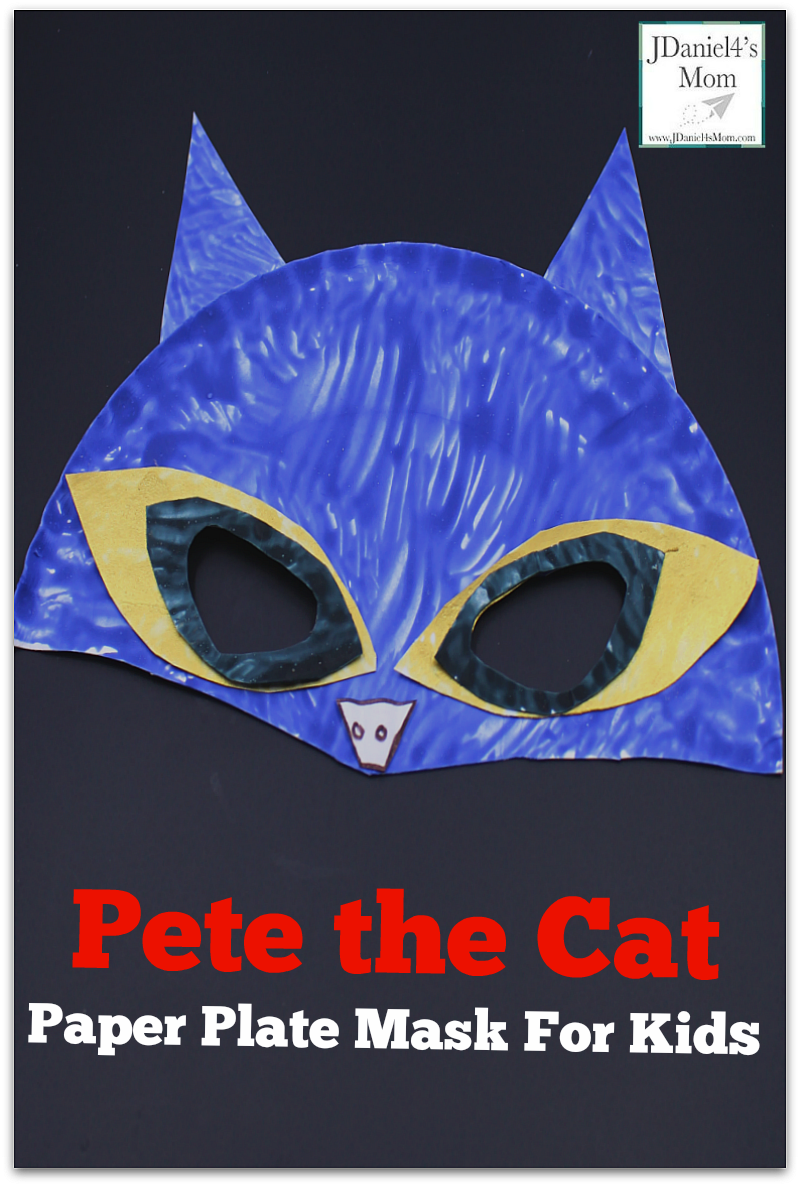 Pete the Cat Paper Plate Mask For Kids