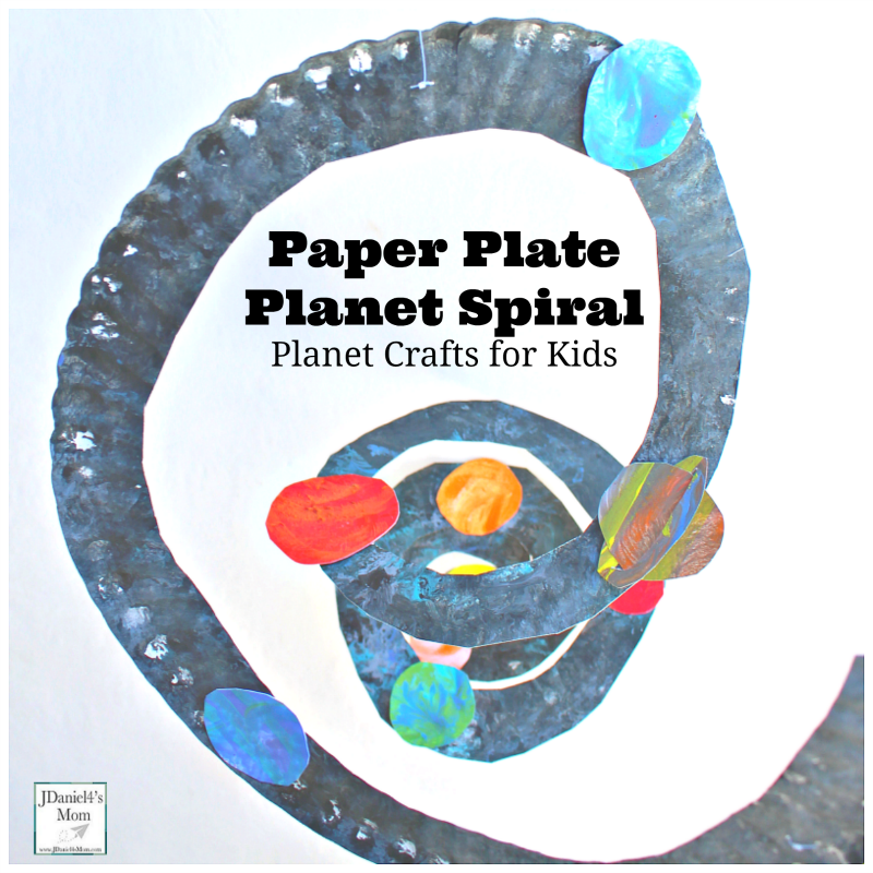 Planet Crafts for Kids- Paper Plate Solar System Spiral