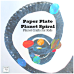 Planet Crafts for Kids-Paper Plate Planet Spiral of Our Universe
