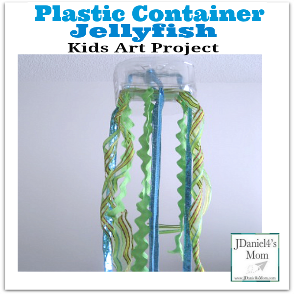 Plastic Jug Jelly Fish Kids Art Project