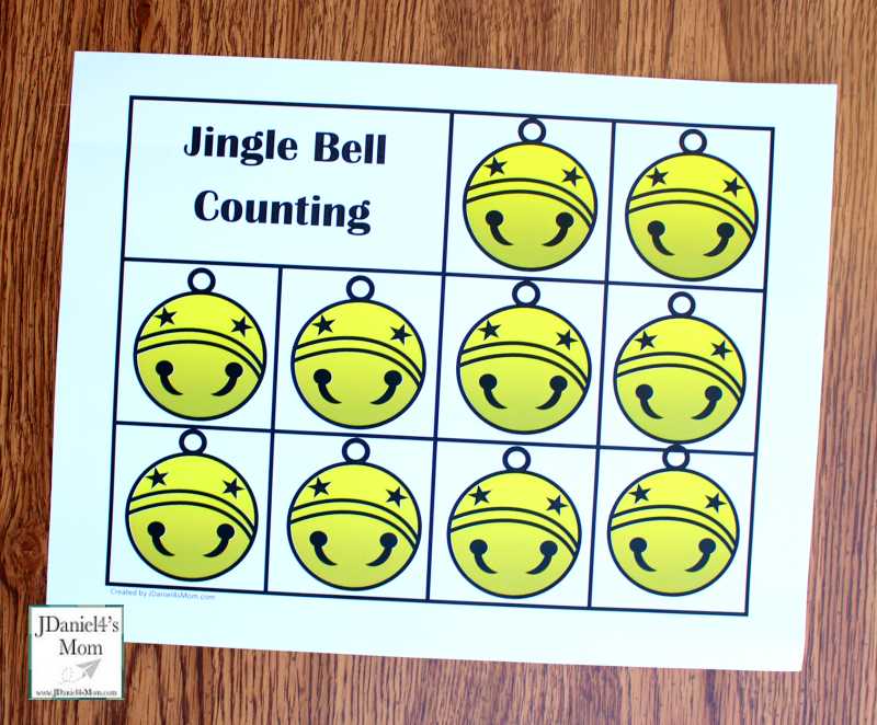 Polar Express Printables- Jingle Bell Count Worksheet without Numbers