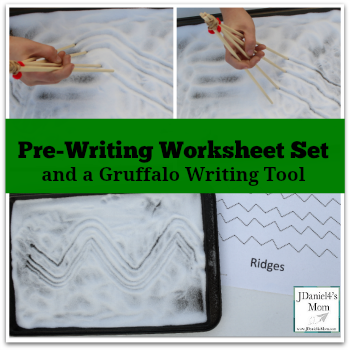 Pre Writing Worksheet Set and a Gruffalo Writing Tool
