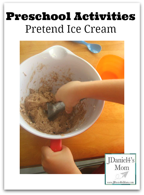Preschool Activities- Pretend Ice Cream