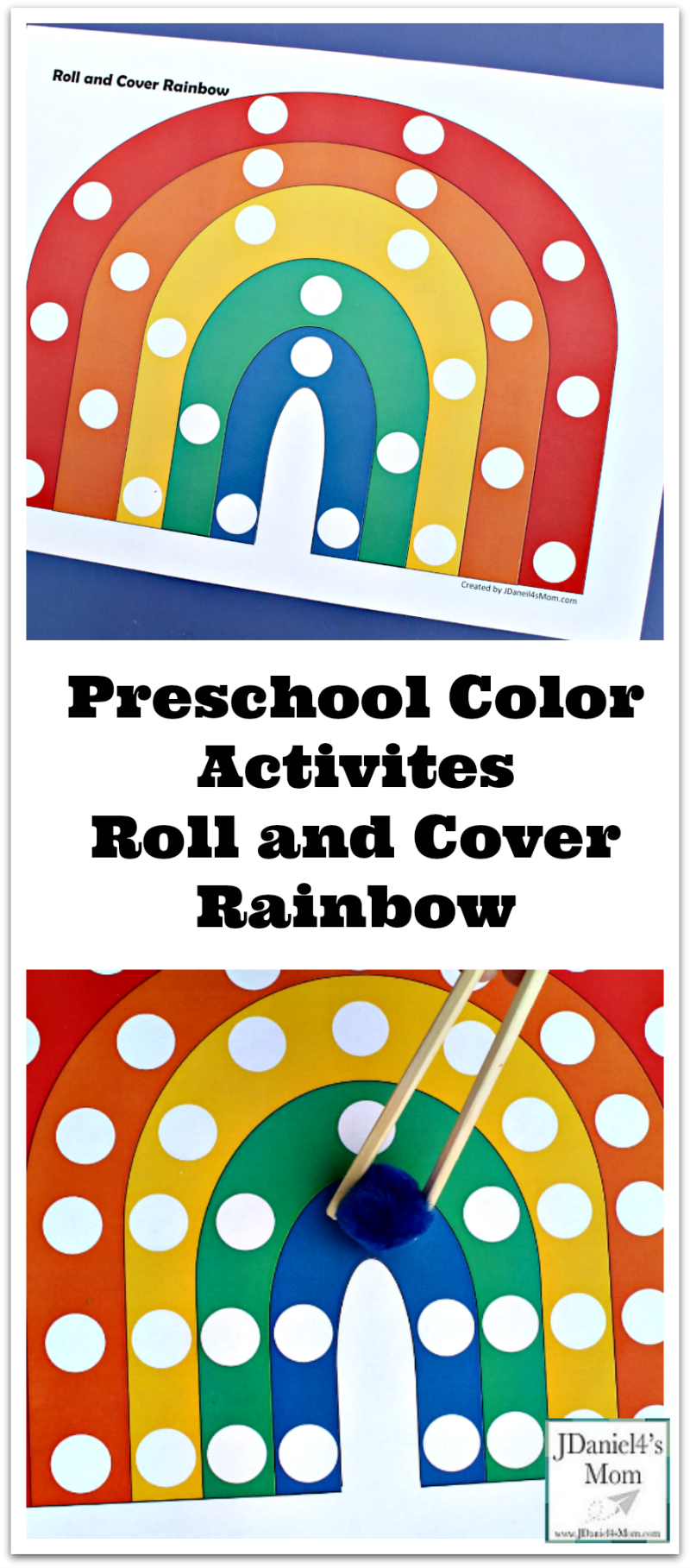 Preschool Color Activites - Roll and Cover Rainbow ...