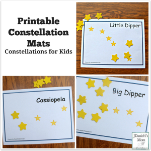 Constellations for Kids - Printable Constellation Mats