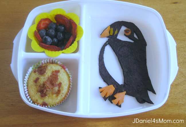 Puffin Muffin Recipe Served in a Bento  meal