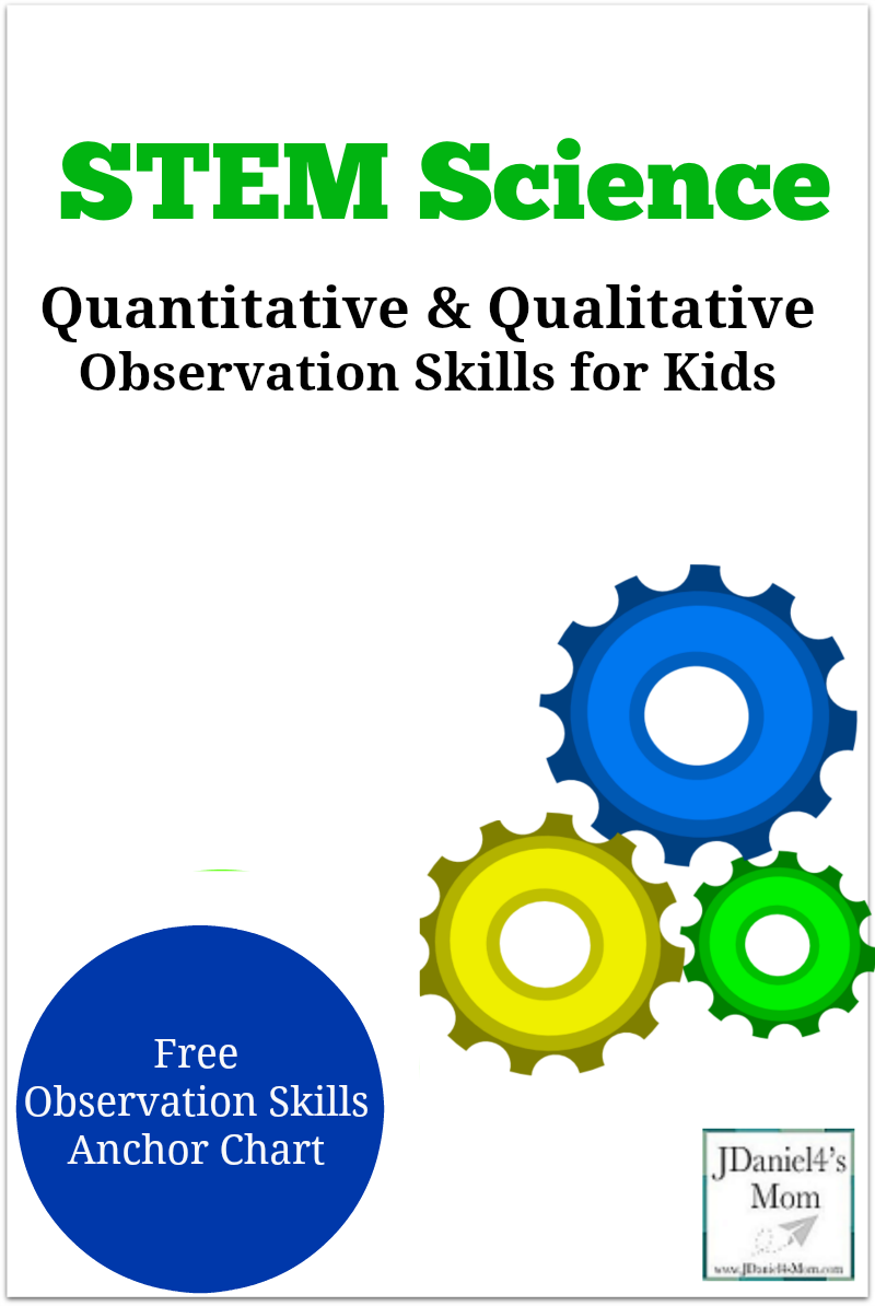 Quantitative and Qualitative Observation Skills for Kids with Printable Anchor Chart