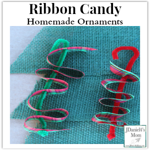 Homemade Ornaments- Ribbon Candy