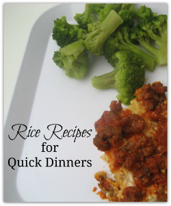 Rice Recipes for Quick Dinners