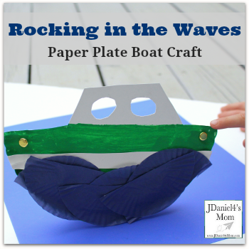 Boat Craft- Paper Plate Boat with Waves
