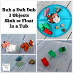 Rub a Dub Dub 3 Objects Sink or Float in a Tub