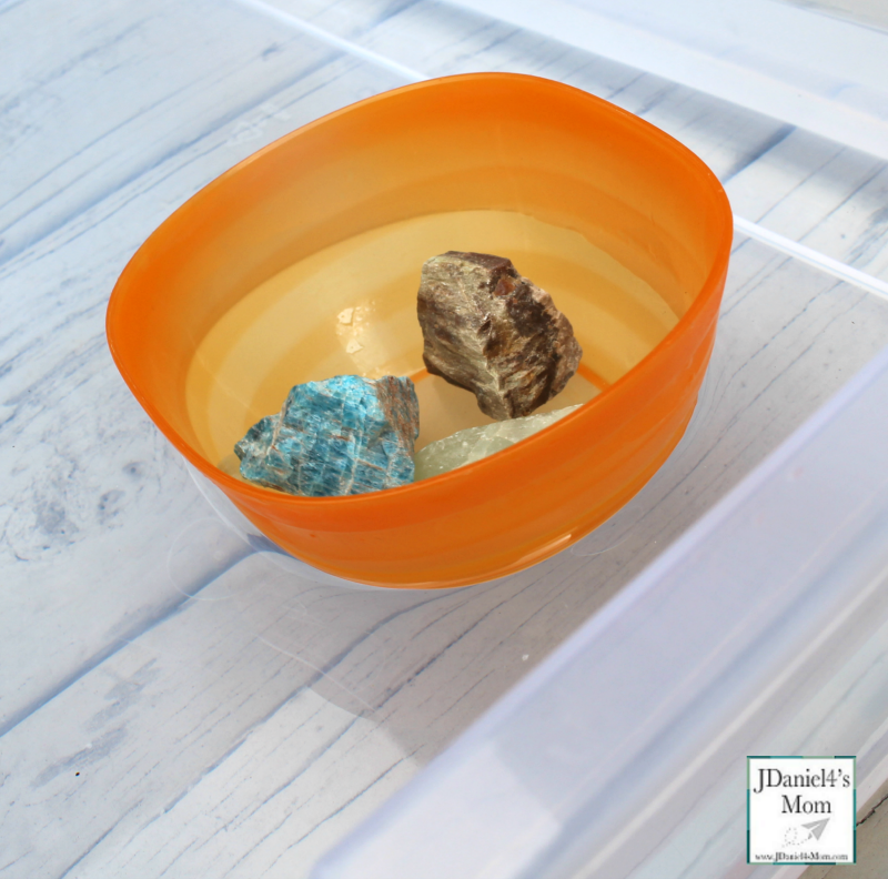 Rub a Dub Dub 3 Objects Sink or Float in a Tub - Floating in a Bowl