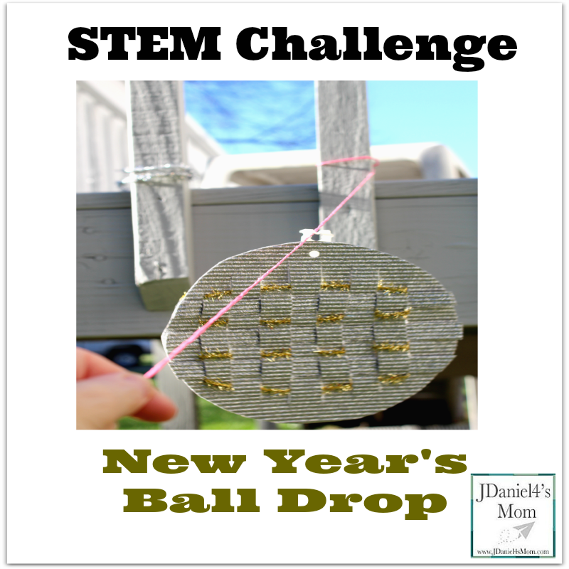 STEM Activity- New Year's Ball Drop: What fun it is to see what materials will help our homemade New Year's Ball drop fastest.