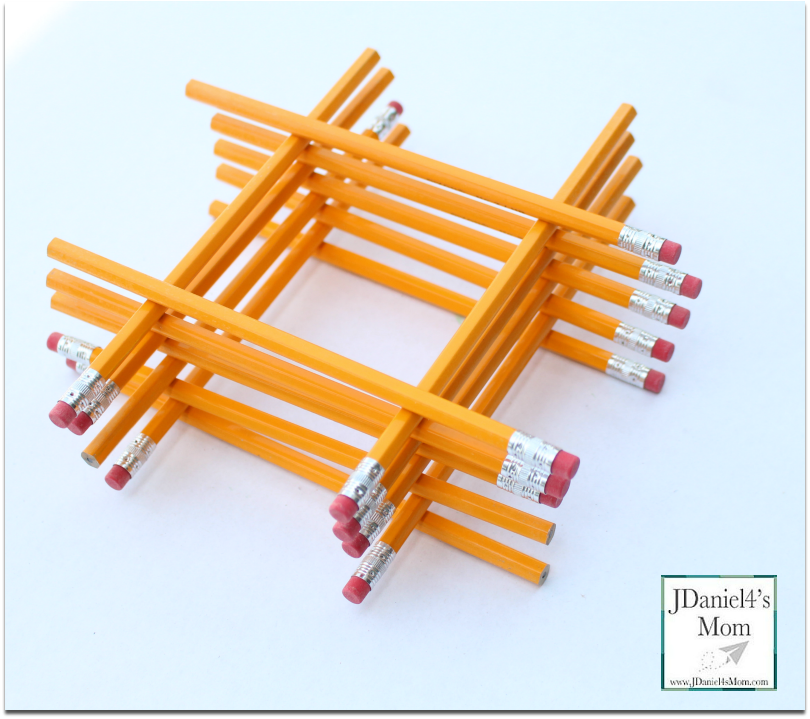 STEM Activities for Kids with #2 Pencils - Pencils can be used to create a number of shapes, numbers and structures.