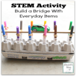 STEM Activity - Build a Bridge with Everyday Items