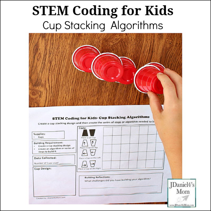 STEM Coding for Kids - Cup Stacking Algorithms : This is a great way to introduce coding to your children.