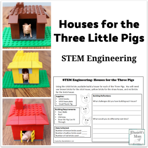 STEM Engineering- Houses for the Three Pigs with LEGO