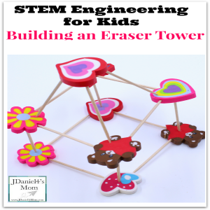 STEM Engineering for Kids- Building an Eraser Tower