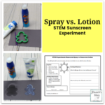 STEM Sunscreen Experiment - Spray vs. Lotion